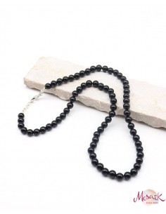 Collier onyx perles rondes 6mm