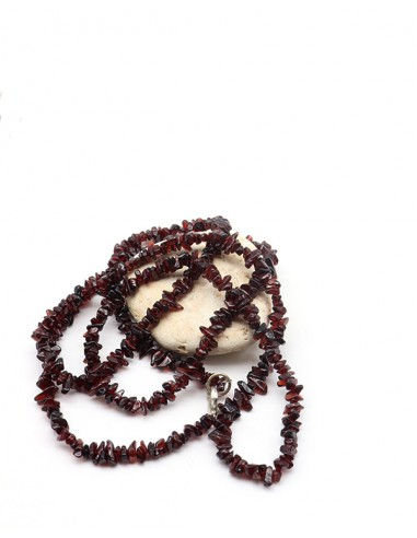 Long collier en grenat naturel - Mosaik bijoux indiens
