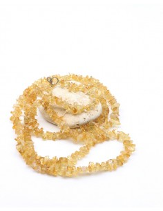 Collier en citrine long
