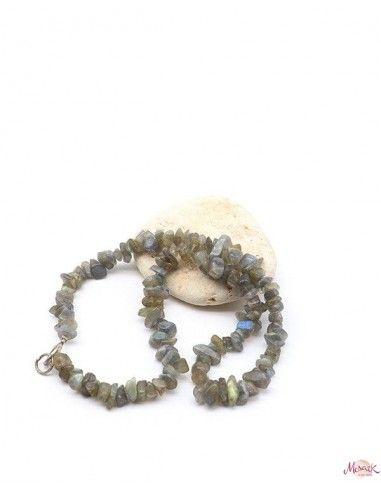 Collier labradorite naturelle pierres concassées - Mosaik bijoux indiens