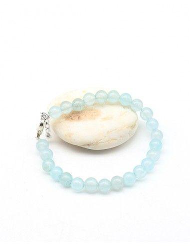 Bracelet en pierre onyx bleu