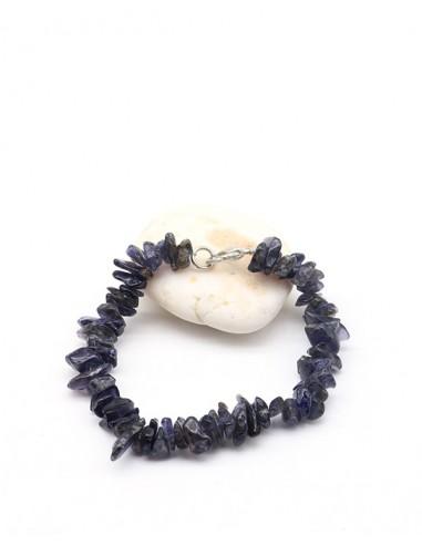Bracelet iolite pierre concassée - Mosaik bijoux indiens