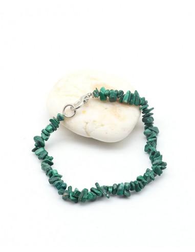 Bracelet malachite naturelle - Mosaik bijoux indiens