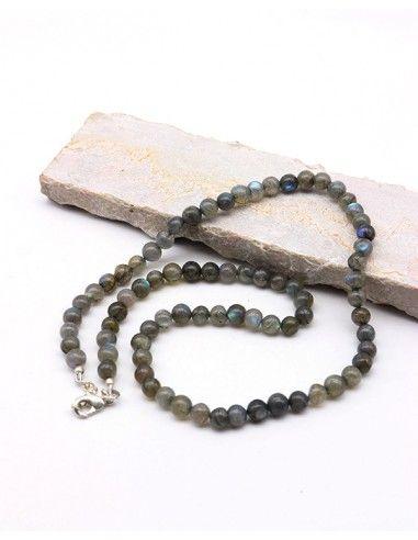 Collier en pierres naturelles en Labradorite