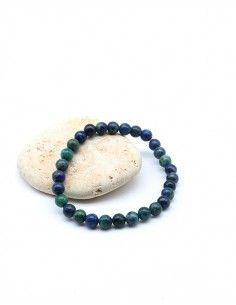 Bracelet pierre azurite élastique - Mosaik bijoux indiens