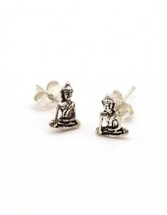 Clous d'oreilles argent bouddha - Mosaik bijoux indiens