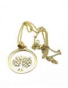 Collier arbre de vie rond doré - Mosaik bijoux indiens