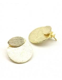 Clous d'oreilles articulés en laiton - Mosaik bijoux indiens