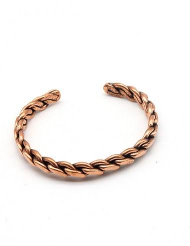 bracelet tressé cuivre - Mosaik bijoux indiens