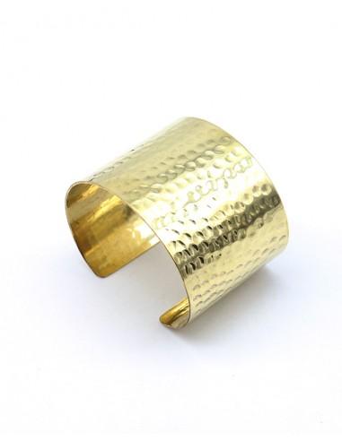 Manchette martelé dorée - Mosaik bijoux indiens