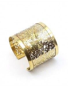 Manchette dentelle dorée