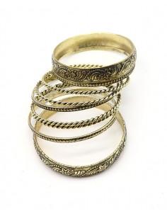Bracelets joncs dorés ethniques