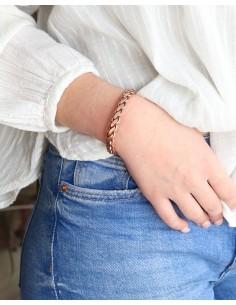 bracelet tressé cuivre - Mosaik bijoux indiens 2