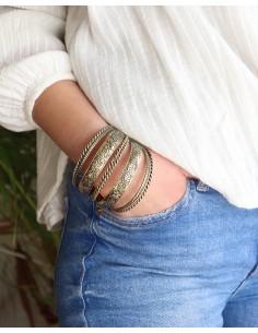 Bracelets joncs dorés ethniques 2