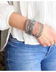 Lot de 9 bracelets joncs en... 2