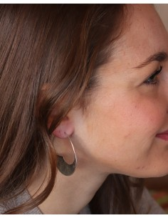 Boucles d'oreilles spirales argentées lisses - Mosaik bijoux indiens 2