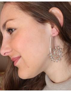 Boucles d'oreilles argentées pendantes 2