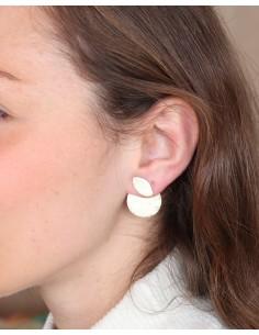 Clous d'oreilles articulés en laiton - Mosaik bijoux indiens 2