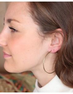Boucles d'oreilles créoles dorées - Mosaik bijoux indiens 2