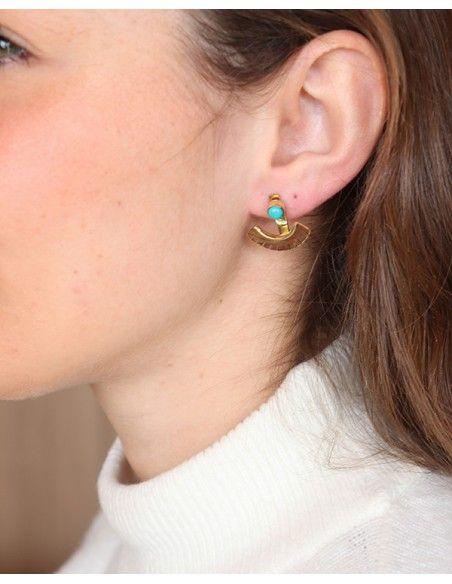 Boucles d'oreilles articulées dorées