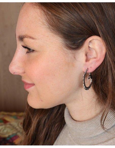Clous d'oreilles style créoles - Mosaik bijoux indiens