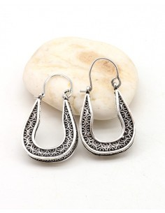 Boucles d'oreilles arrondies - Mosaik bijoux indiens