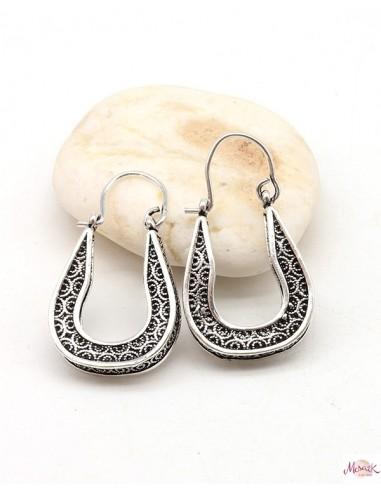 Boucles d'oreilles arrondies - Mosaik bijoux indiens