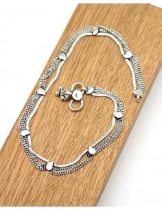 Bracelet de cheville en argent ethnique