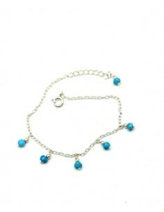 Bracelet argent et perles turquoise