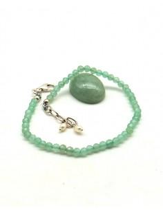 Bracelet fluorite pierres taillées et argent