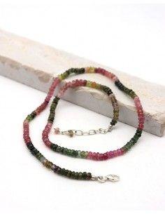 Collier tourmaline pierres taillées - Mosaik bijoux indiens