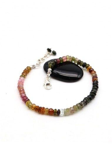 Bracelet tourmaline pierres taillées - Mosaik bijoux indiens
