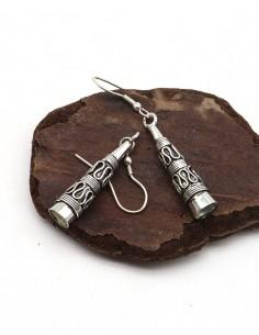 Boucles d'oreilles ethniques travaillées - Mosaik bijoux indiens