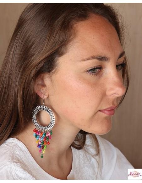 Grosse boucles d'oreilles indiennes - Mosaik bijoux indiens