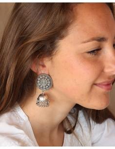 Boucles d'oreilles indiennes ethniques - Mosaik bijoux indiens 2