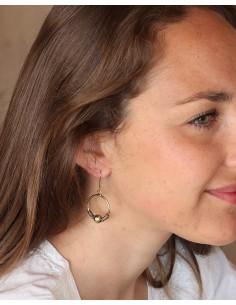 Petites boucles d'oreilles dorées rondes - Mosaik bijoux indiens 2