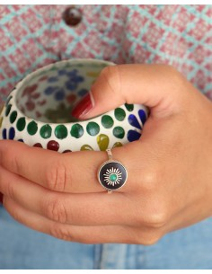 Bague bohème chic en argent et améthyste - Mosaik bijoux indiens 2