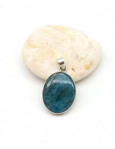 Pendentif apatite bleue en argent - Mosaik bijoux indiens