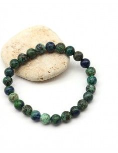 Bracelet turquoise et azurite pour homme - Mosaik bijoux indiens