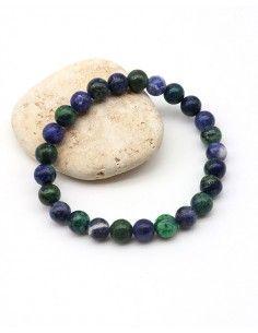Bracelet sodalite et azurite pour homme - Mosaik bijoux indiens