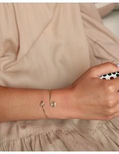Demi jonc flèche en laiton - Mosaik bijoux indiens 2