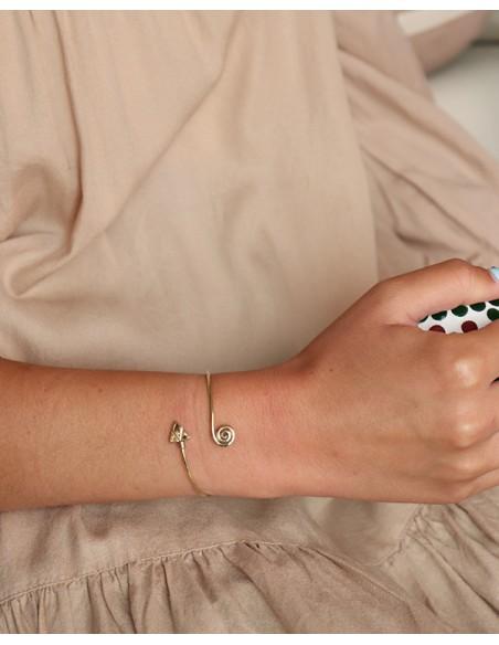 Bracelet fin doré flèche - Mosaik bijoux indiens