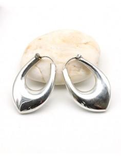 Boucles d'oreilles argent ovales épaisses - Mosaik bijoux indiens