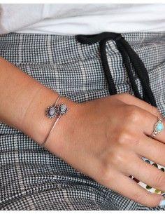 Bracelet pierre de lune - Mosaik bijoux indiens 2