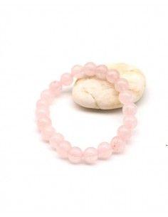 Bracelet rose pierre naturelle - Mosaik bijoux indiens