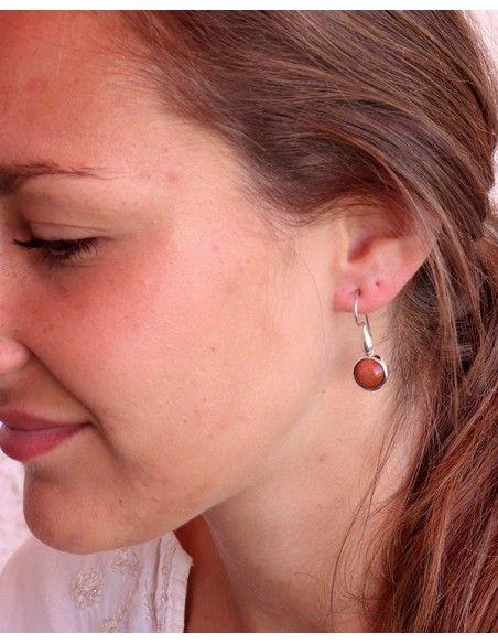 Boucles d'oreilles brillante argent - Mosaik bijoux indiens