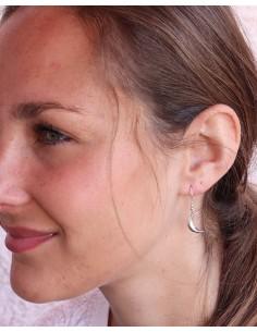 Boucles d'oreilles argent et croissant de lune - Mosaik bijoux indiens 2