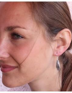 Boucles d'oreilles argent et labradorite taillées - Mosaik bijoux indiens 2