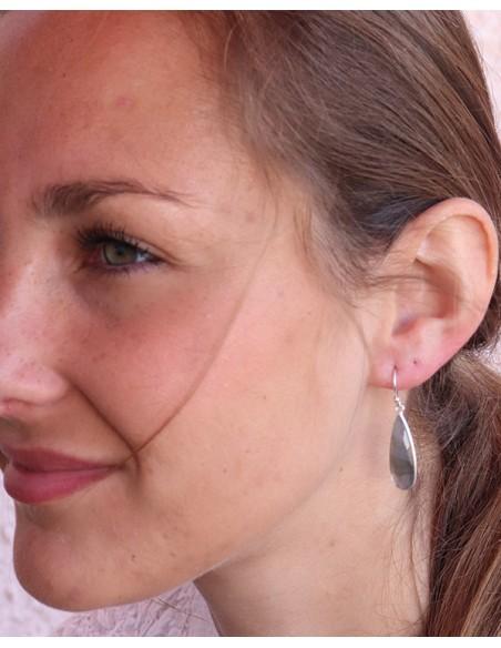 Boucle d'oreille labradorite - Mosaik bijoux indiens
