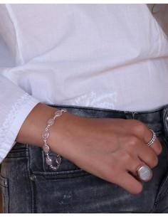 Bracelet argent et quartz rose - Mosaik bijoux indiens 2